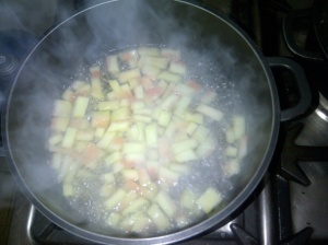 Simmering the rinds